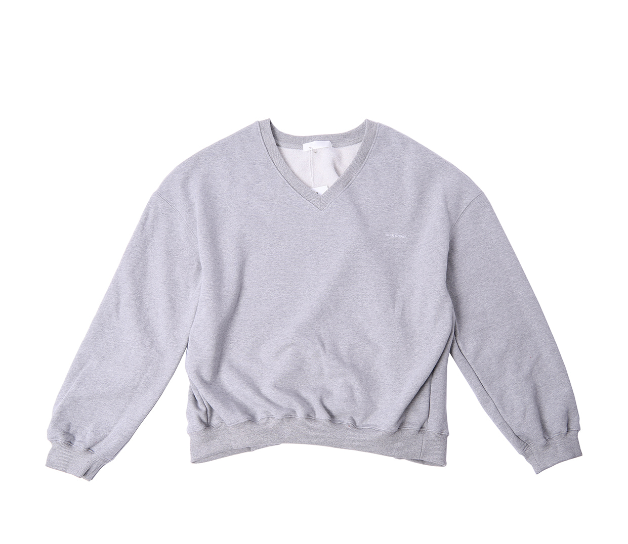 V-NECK SWEATSHIRTS (HEATHER GRAY)