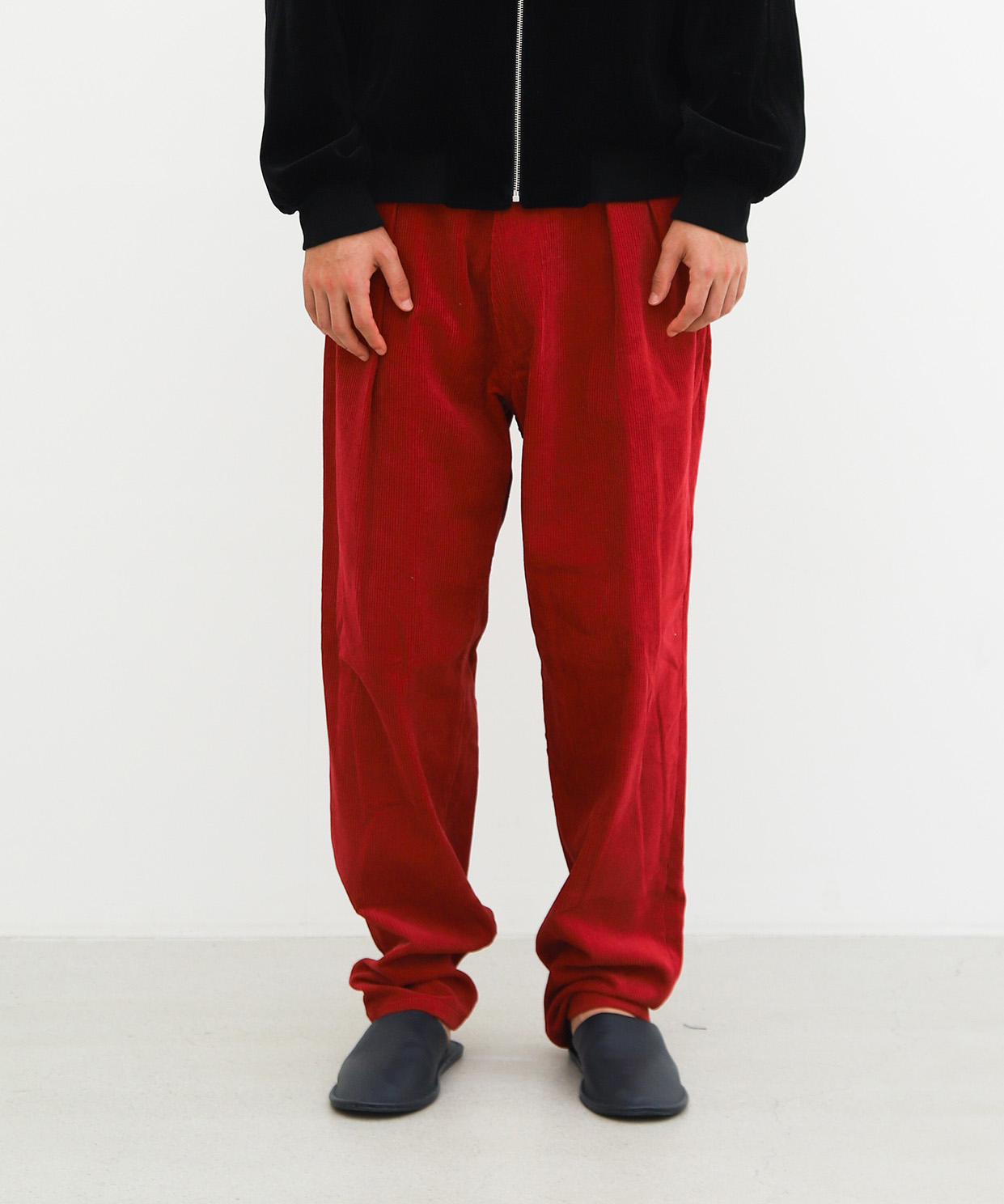 DROPPED TROUSER CORDUROY (AUTUMN RED)