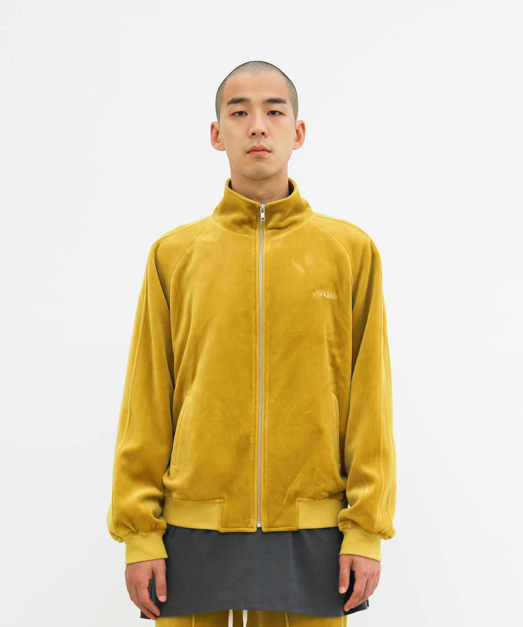 RAGLAN VELVET TRACK TOP (MUSTARD YELLOW)
