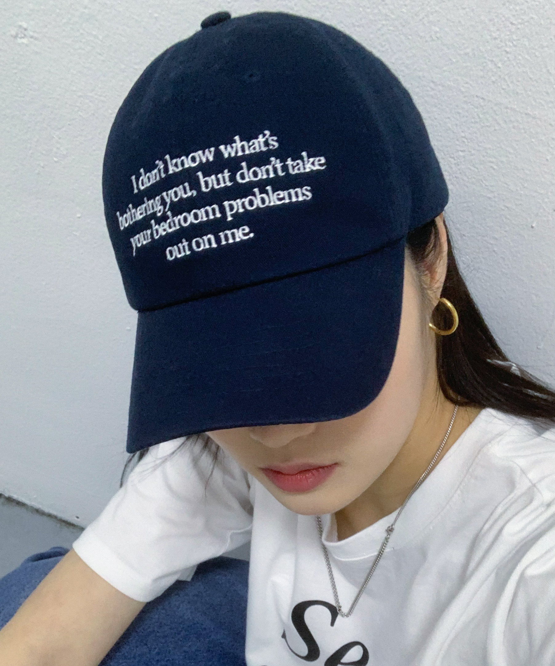 I-DON'T-KNOW CAP (NAVY)